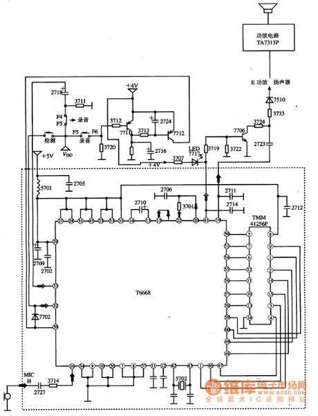 circuit diagram of integrated circuit t6668 the audio process integrated circuit circuit diagram world