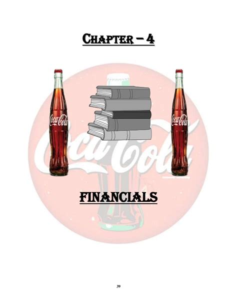 Mba St 39 by Coca Cola Company Project Report Mba 1st Year