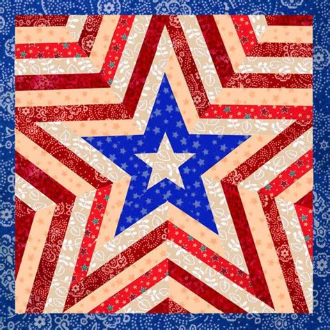 star pattern in c pdf one star americana patriotic mini quilt pattern easy
