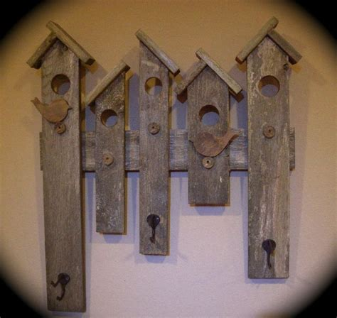 handmade bird houses feeders table