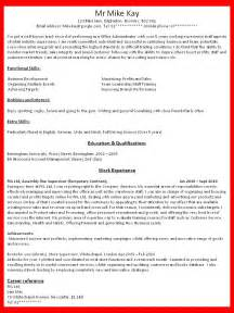 Resumes How To Write by How To Write Resume Out Of Darkness