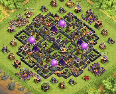 layout coc base war th9 citadel by felkaroth coc bases