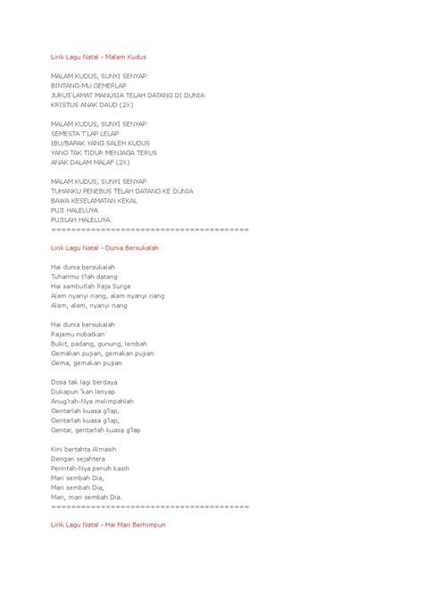 lirik lagu a profil a page 50 lirik lagu natal by giggsyz lordwe lm issuu