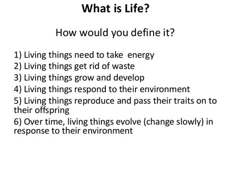 biography science definition what is the definition of life