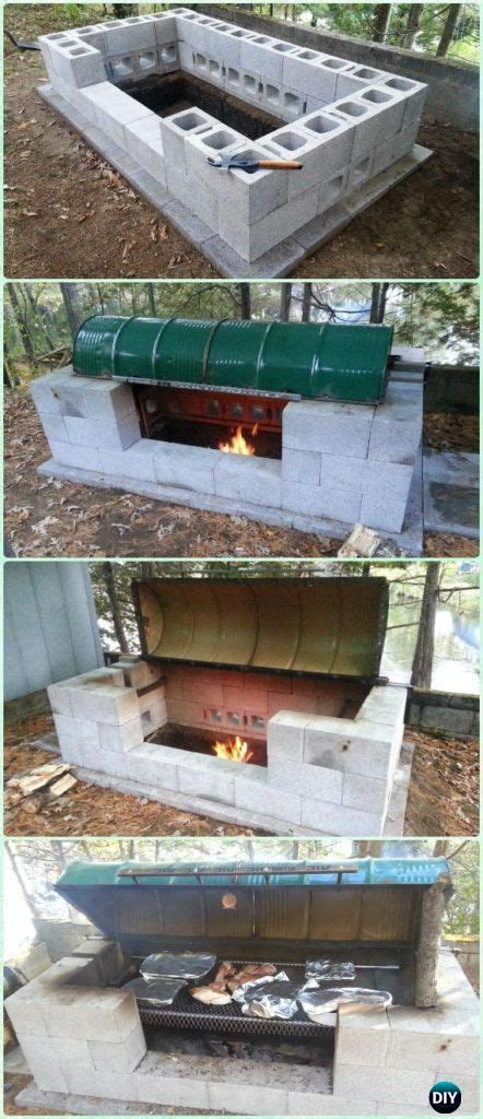 Cinder Block Pit Inexpensive And Attractive Ideas Diy Backyard Bbq Grill Projects For The Home Backyard Bbq Cinder Block