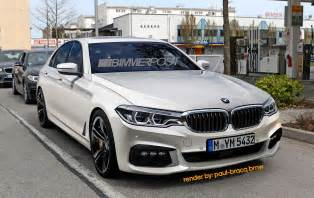 2017 bmw 5 series m sport front three quarters rendering