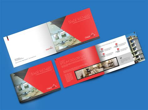 mockup design for brochure download landscape brochure mockup psd at downloadmockup