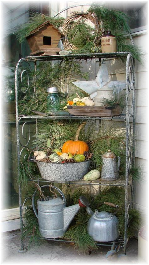 Outdoor Bakers Rack Ideas 25 Best Ideas About Bakers Rack Decorating On