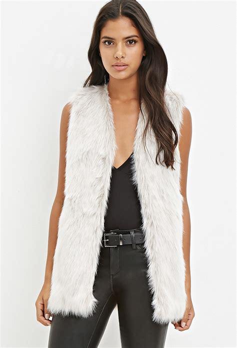 Light Grey Faux Fur Vest 28 Images White Light