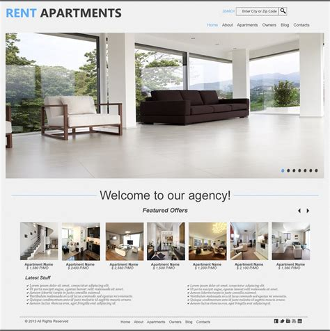 Apartments For Rent Websites Rent Apartments Psd Homepage Template By Fasiullakhan On