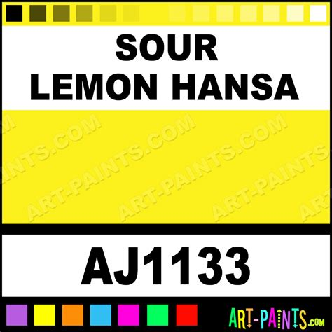 sour lemon hansa professional watercolor paints aj1133 sour lemon hansa paint sour lemon