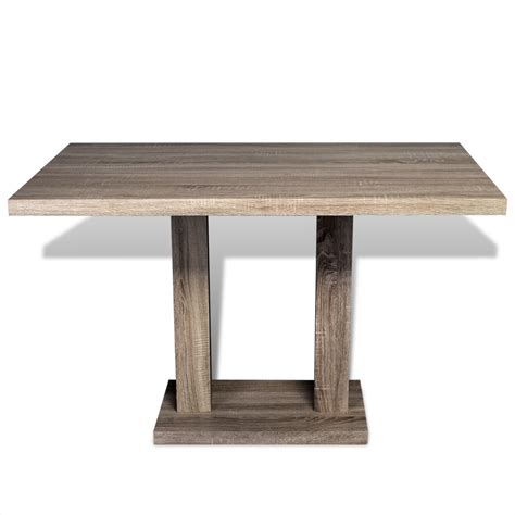 dining table mdf oak look www vidaxl au
