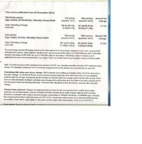 Acceptance Letter For Price Increase Npower A Whopping 17 Price Increase Moneysavingexpert Forums