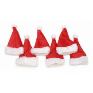 mini santa hats for crafts 3 x 5 5 inches 6 pack