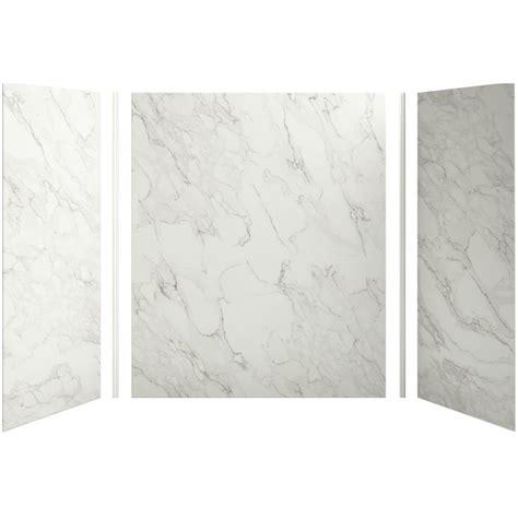 fiberglass bathtub wall panels shop kohler choreograph fiberglass and plastic composite