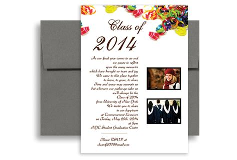 templates for high school graduation invitations 2018 high school photo graduation party invitation 5x7 in