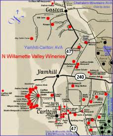 map to the wineries of oregon s willamette valley
