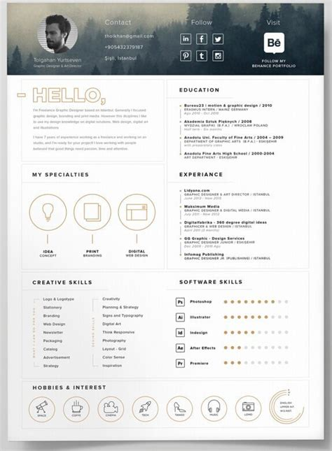 resume template psd 130 new fashion resume cv templates for free