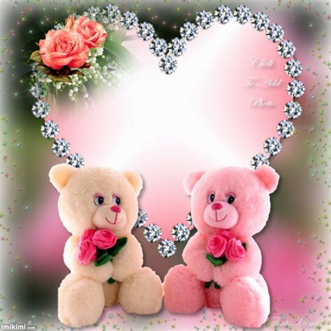 Frame Foto Teddy teddy frame click to put a photo in the pink teddy