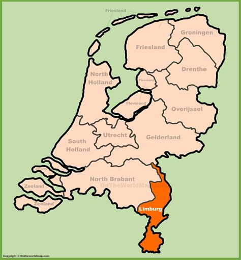 netherlands limburg map limburg location on the netherlands map