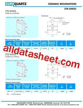 capacitor ztb455e ztb455e 데이터시트 pdf euroquartz limited