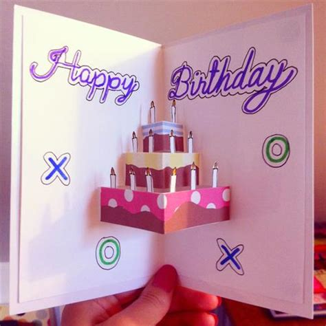 How To Make A Cool Birthday Card Out Of Paper - diy birthday cards and decorations diy craft projects