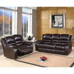 Leather Reclining Sofa Sets Abbyson Living Ashlyn Brown Leather Reclining Loveseat And Sofa Set At Hayneedle
