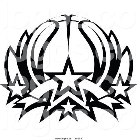 royalty free vector of a logo of a black and white