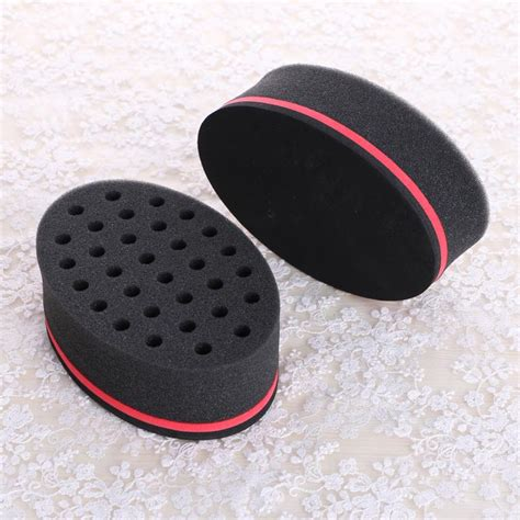 sponge brush hair oval magic twist hair sponge hair curl sponge brush for