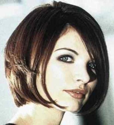 chin to shoulder length bob haircuts with long side swept bangs chin length bob hairstyle