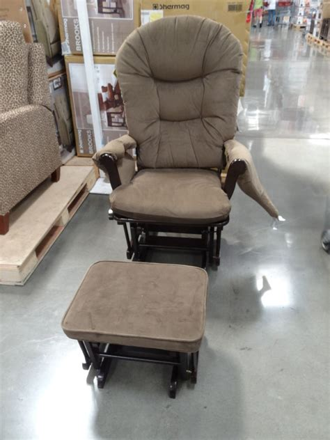glider rocker with glider ottoman shermag brooks glider rocker with ottoman
