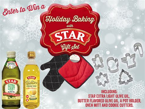Baking Sweepstakes - holiday baking with star gift set sweepstakes