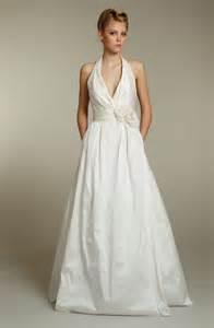wedding dress halter simple ivory halter wedding dress with pockets