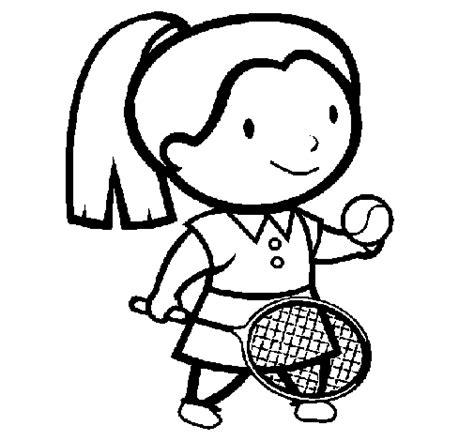 imagenes de niños jugando tenis para colorear dibujo de chica tenista para colorear dibujos net