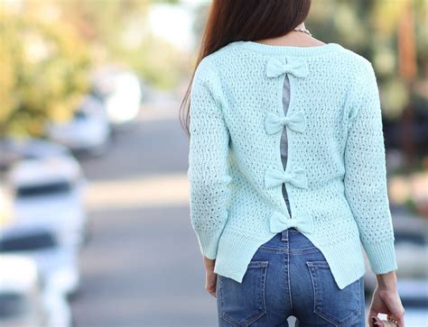 Bow Back Sweater delias bow back sweater and mini pebbled
