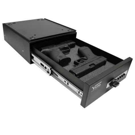 under desk gun safe v line 10123 slide away quick release pistol case install