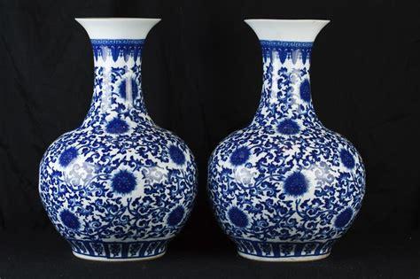 weisse vasen porzellan paar blaue und wei 223 e chinesischen ming porzellan tempel
