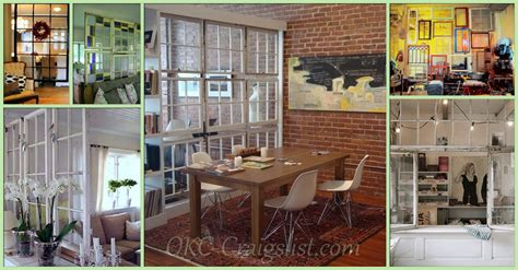 Garage Sales Okc Repurposed Salvaged Windows Into Room Dividers
