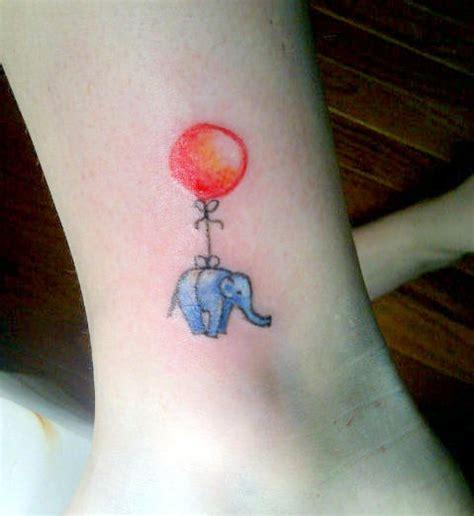 elephant balloon tattoo tiny elephant with red balloon tattoo ideas pinterest