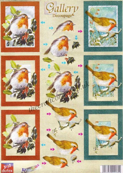 3d Decoupage Prints - robins dufex 3d decoupage die cut sheet