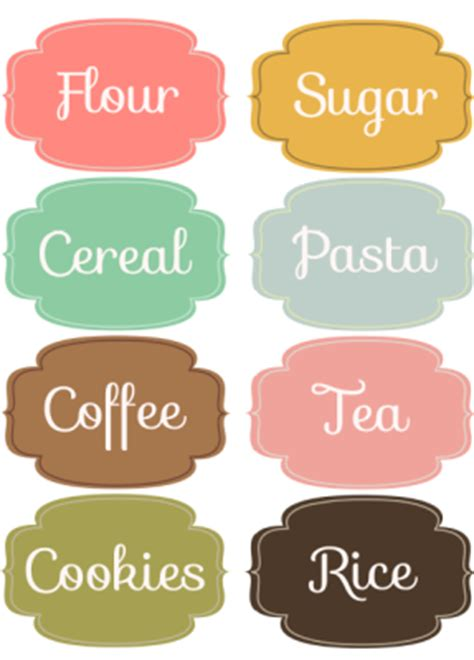 10 free printable labels for organizing living well