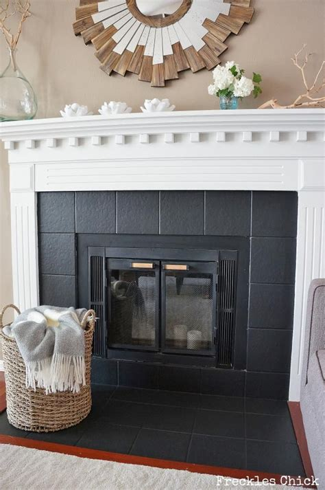 fireplace tile mini facelift with paint