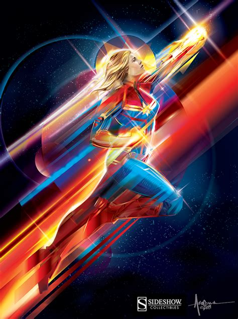 official captain marvel print vector art  wacom gallery