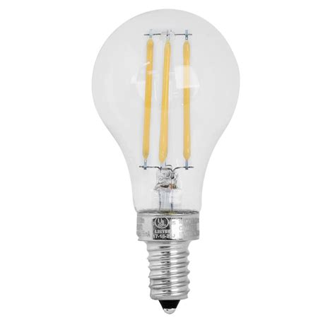 Led Light Bulbs Candelabra Base 60w Feit Electric 60w Equivalent Soft White A15 Dimmable Clear Filament Led Candelabra Base Light