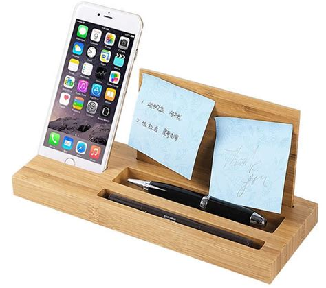office desk organizer bamboo wood office desk organizer mobile phone stand
