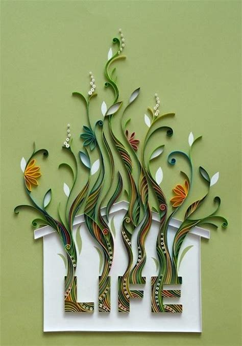 Paper Craft Design - amazing paper quilling patterns and designs chilli