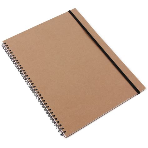 Kraft A4 notebook with ruled pages