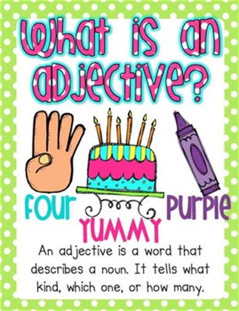 What Is A Gift Card - what is an adjective adjective cards by tricia lyday tpt