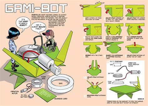 How To Make A Simple Robot With Paper - gami bots 171 howtoons