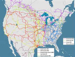 railroad maps ownership of major american rail lines 2011